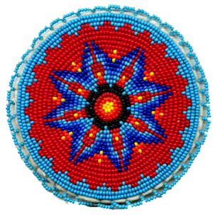 Native american beaded rosettes strips headbands seems brilliant